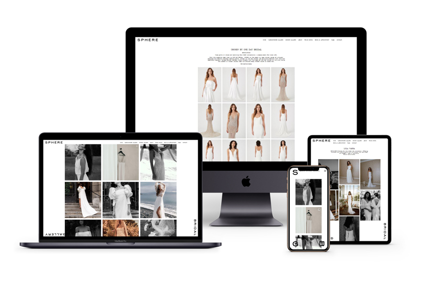 Sphere Collective Bridal Website