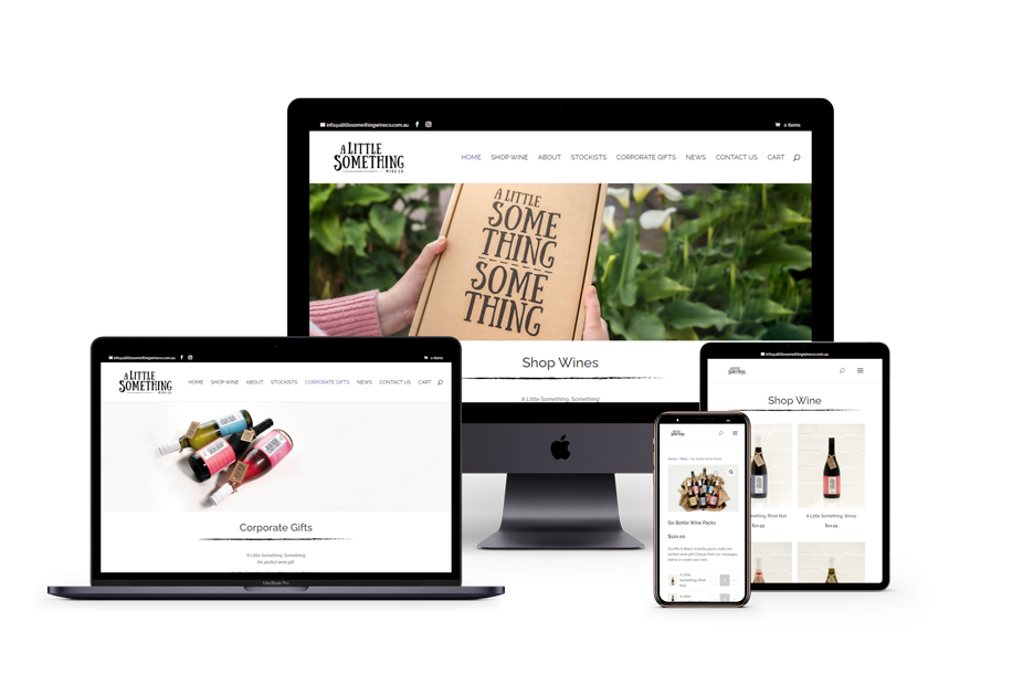 A Little Something Wine Co website design