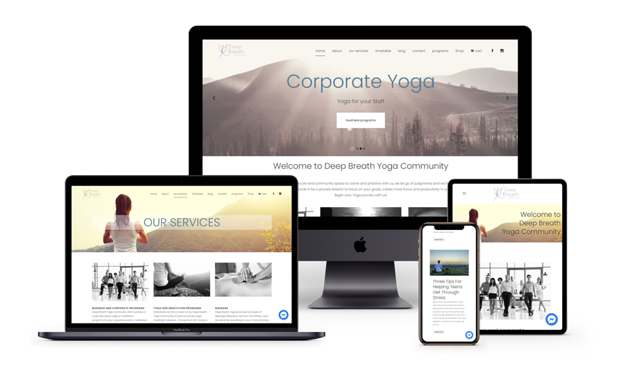 Deep Breath Yoga website design