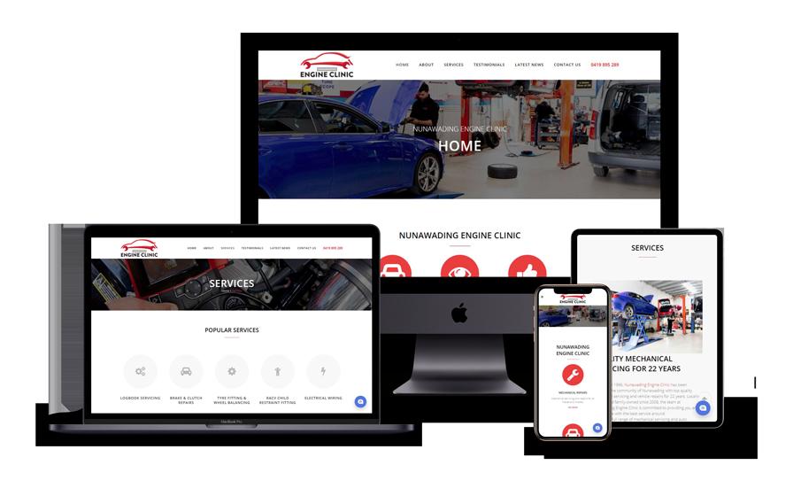 Nunawading Engine Clinc website design