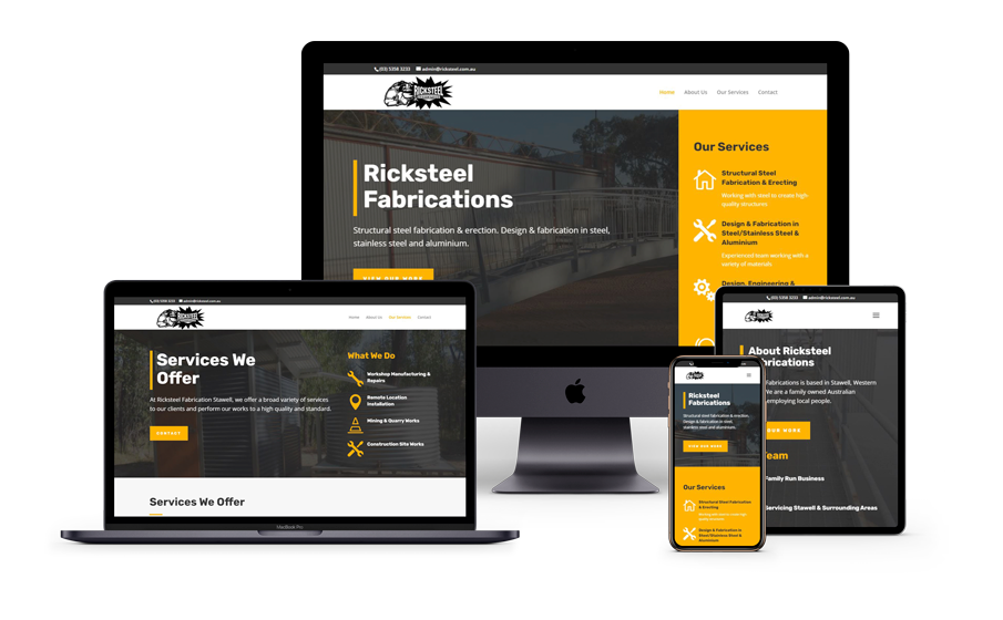 Ricksteel Fabrications website