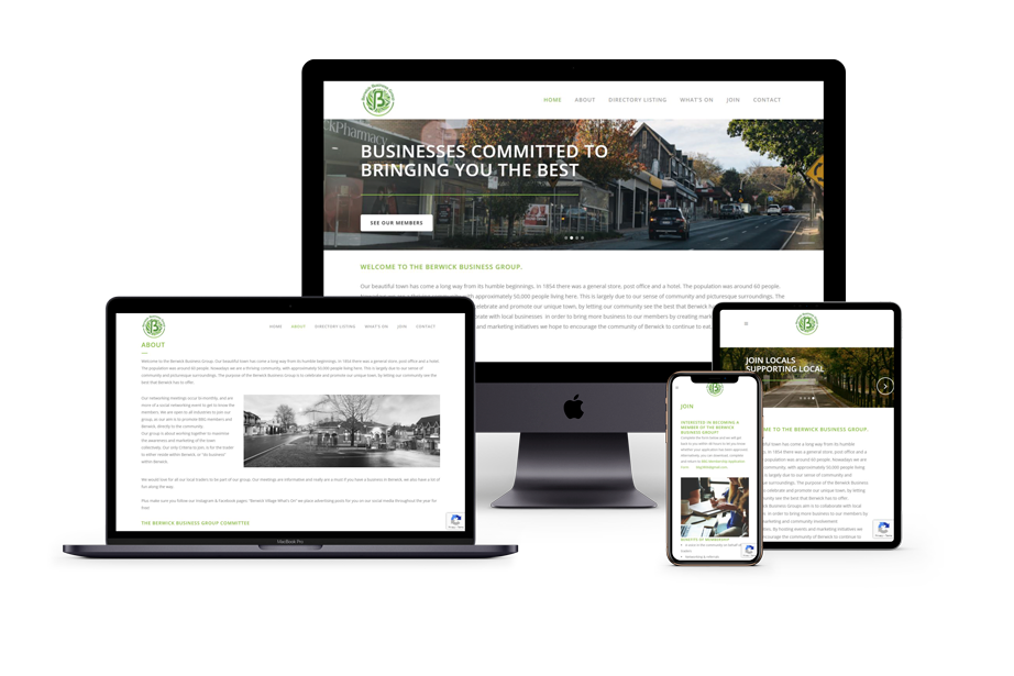 Berwick Business Group website (website for a networking group)