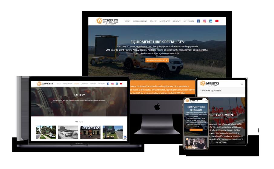 Liberty Equipment Hire Website