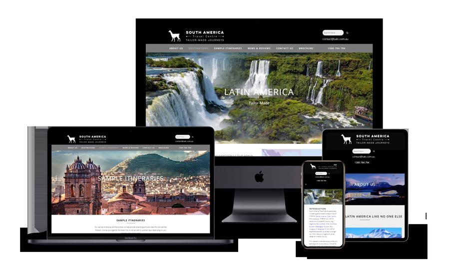Website Design for South America Travel Centre
